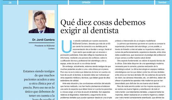 que diez cosas le podemos exigir al dentista
