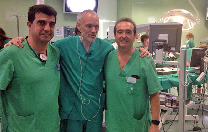 Los doctores Cabezas, Zabalegui y Burkhardt